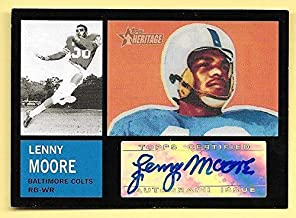 2005 Topps Heritage Real One #LM Lenny Moore Autograph Card