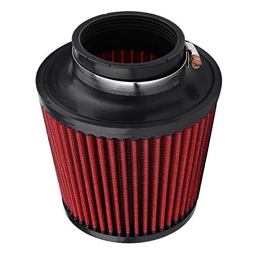 Filtro de aire universal para coche, modificación de alto flujo de entrada de aire frío, filtro de aire, tubo modificado, scooter 76 mm, 100 mm (color 76 mm de diámetro interior)