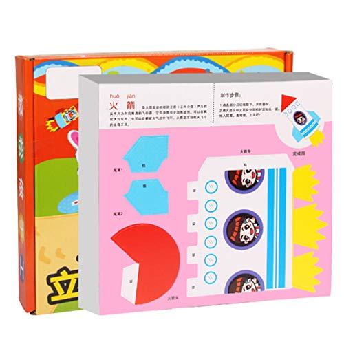 TOYANDONA 1 Caja de Origami Animals Craft Activity Set 3D Papeles Plegables Origami Diy Paper Kid Regalo de Cumpleaños Juguetes de Desarrollo Temprano con Cinta de Doble Cara