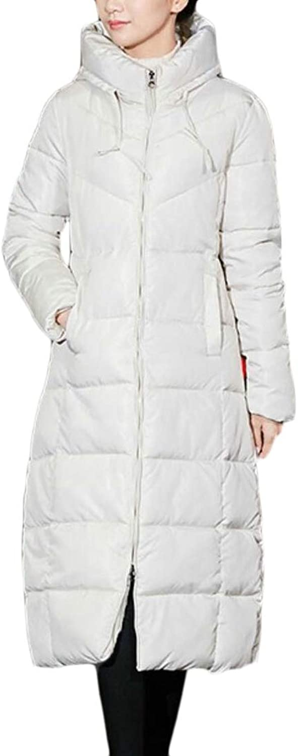 GenericWomen Mid Long Hood Quilted Winter Thick Parka Down Jacket Coat