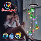 Dekopia Solar Wind Chimes 8 Hummingbird Outdoor Decor Color Changing Light Sensor Solar Power eco Friendly Easy to use Waterproof Design Christmas Ornaments Night Party Garden Decor