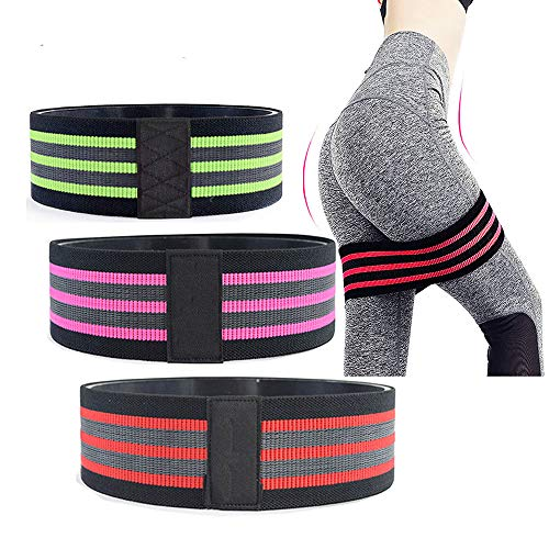 Ring Non-Slip Elastic Sports Belt,Make The Body Slim by Training The Legs, Hips and Waist, It is The Best Training Equipment for Fitness Shaping and Yoga,This Product is Inpink Medium Size.