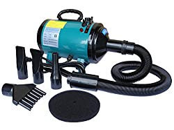 Go Pet Club DT-688 Step-Less Adjustable Speed Pet Dryer, Turquoise