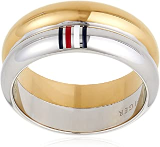 TOMMY HILFIGER WOMEN'S TWO TONE STAINLESS STEEL RINGS -2701096C