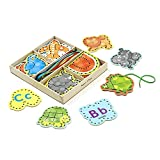 Melissa & Doug Alphabet Wooden Lacing Cards With Double-Sided Panels...