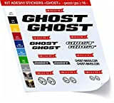 Bike Ghost Sticker Selbstklebend Kit Aufkleber 16?SCEGLI erlitten colore- Bike Cycle PEGATINA Cod. 0419 - Nero cod. 070