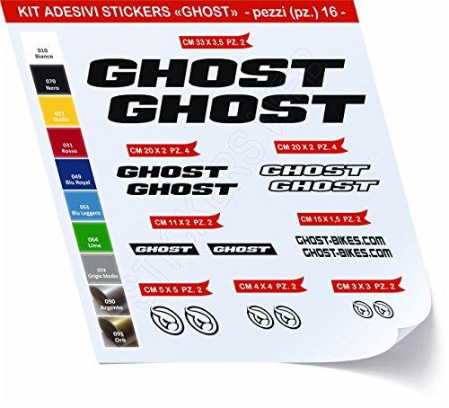 Pimastickerslab Bike Ghost Sticker Selbstklebend Kit Aufkleber 16?SCEGLI erlitten Colore- Bike Cycle PEGATINA Cod. 0419 - Nero cod. 070