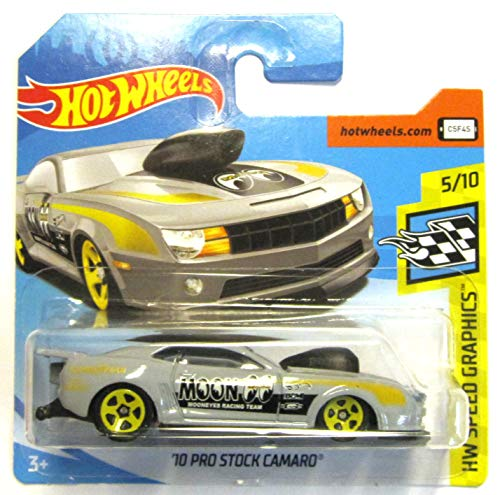 Hot Wheels FJY09 - 2010 Chevy Camaro Pro Stock grau Moon Mooneyes Racing Team (HW Speed Graphics 5/10)