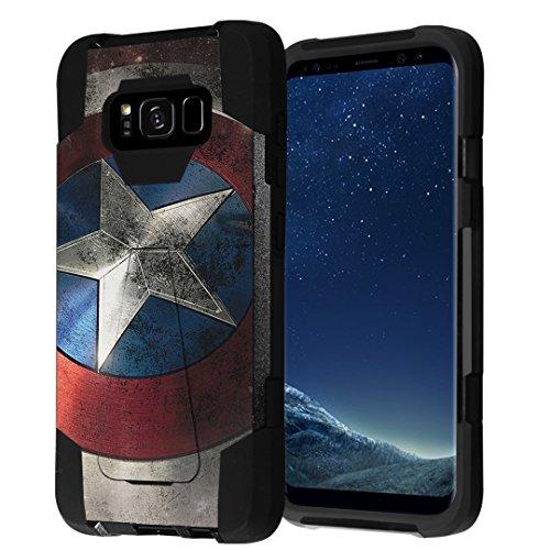 Galaxy S8+ Case, Galaxy S8-Plus Case, Capsule-Case Hybrid Fusion Dual Layer Shockproof Combat Kickstand Case (Black) for Samsung Galaxy S8+ S8Plus SM-G955 SPHG955 - (Rock Star)