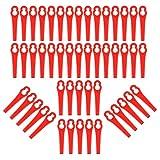 ToPicks 50/100 PCS Lawn Mower <span class='highlight'>Plastic</span> Cutting <span class='highlight'>Blades</span> 83mm <span class='highlight'><span class='highlight'>Grass</span></span> Trimmer Cutter <span class='highlight'>Garden</span>ing Tool Replacement (50 pcs, Red)
