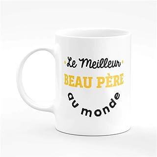 """Taza de café con texto en inglés """"Le meilleur BeauAU Papa – Taza de café.."""