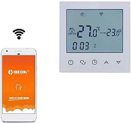 Blanco Control De La Temperatura De La Habitaci/ón Con Tel/éfono Inteligente Blanco 230.00 V Beok TDS23WIFI-EP Termostato Digital Programable Para Calefacci/ón El/éctrica Debajo Del Piso