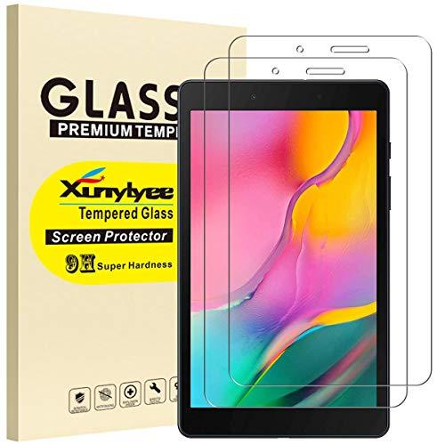 XunyLyee [2 pezzi] Pellicola Protettiva Compatibile Con Samsung Galaxy Tab A 8.0 2019, Vetro Temperato Pellicola per Galaxy Tab A 8 Pollici 2019 SM-T290  SM-T295