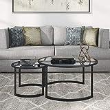 Henn&Hart Mitera Nesting Set Coffee Table, Black