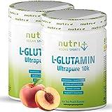 L-GLUTAMIN mit Pfirsich-Eistee Geschmack - MHD 14.06.2021-1000g Pulver - 99,95% rein - vegan & hochdosiert - Nutri-Plus L-Glutamine Powder Ice-Tea Peach Flavour 1kg lactosefrei