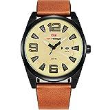 ZGZXD Reloj De Cuarzo Impermeable para Hombres, Reloj Deportivo Al Aire Libre con Correa De Moda para Hombre, Calendario Casual,B