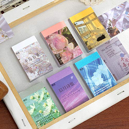 DSSJ 50 Ins Style Hand Account Material Stickers, Art Small Fresh Magazine Style DIY Decoration Small Pattern Hand Account Stickers