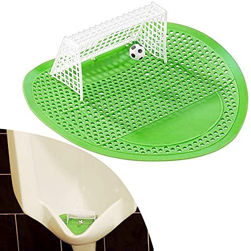 KNMY - Urinatoio per orinatoio da calcio, divertente colino per orinatoio da calcio, 18,5 x 19,5 cm, griglia per orinatoio per la toilette da uomo, protezione dagli schizzi igienica