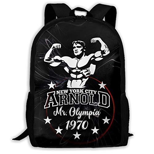 Ssxvjaioervrf Arnold Schwarzenegger Mr Olympia Premium Rucksack Laptop Backpack Casual Day Packs for School Travel Hiking