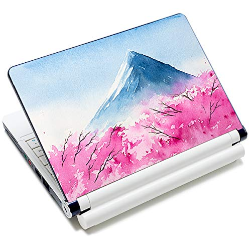 Fujiyama & Cherry Blossoms 12.1 13 13.3 14 15 15.4 15.6 Inches Personalized Laptop Skin Sticker Decal Universal Netbook Skin Sticker Reusable Notebook PC Art Decal Protector Cover Case by AORTDES