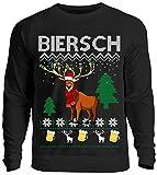 Kreisligahelden Ugly Christmas Sweater Herren Lustig Biersch - Pullover Baumwolle mit Motiv Aufdruck...