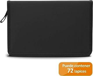 9223c73e1d TOPERSUN Trousse 72 Fentes Sac à Crayons en Toile Grand Capacité, Pratique  et Solide pour