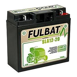 SLA 12–20fulbat SLA Batterie sans entretien, renforcé 12V 20Ah gazon tracteur tondeuse autoportée Catel Garden, Solo, Honda, Cooper, Sabo, sabre, Sentar, Brill, etc.