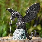 Escultura De Fuente De Dragón Adornos De Fuente De Jardín De Dragón Gótico Arte De Fuente De Jardín Centros De Fuentes O Decoraciones De Patios De Jardines De Piscina