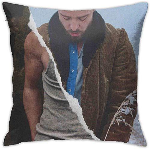 ingshihuainingxiancijies Justin Timberlake Man of The Woods Funda de Almohada Cuadrada para sofá, Dormitorio, decoración de 18 x 18 Pulgadas