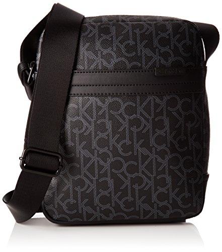 Calvin Klein Greg Mono Reporter, 001, OS, Borsa a Mano Uomo, Nero (Black), 7x25x27 cm (W x H x L)