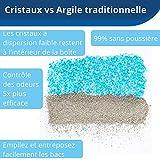 PetSafe - Bac de Rechange Litière Absorbante et Anti-Odeur Scoopfree Cristal Bleu pour bac à litière autonettoyant ScoopFree, litière en cristal pour chat, hygiénique - Lot de 3