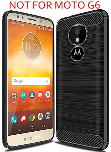 Suensan Moto G6 Play Case,Moto G6 Forge case, TPU Shock Absorption Technology Raised Bezels Protective Case Cover for Motorola Moto G6 Forge,Moto G6 Play Case Smartphone (Black)