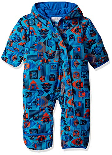 Columbia Snuggly Bunny Mono de esquí infantil, Niño, Azul con estampado (Super Blue Critter Block), Talla: XL