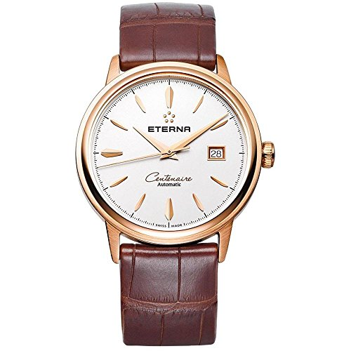Eterna Centenaire Damen-Armbanduhr 40mm Armband Aligatorleder Braun Saphirglas Automatik 2960.69.11.1272