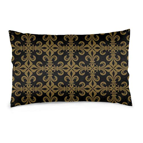 iksrgfvb Pillowcases 16X24inch Lace-De-Luce (Lace Of Lilies), Rich Francophile Bronze Throw Pillow Covers Sofa Car Cushion Cover Home Decorative 40X60CM