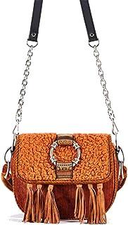 ViaMailBag Umhängetasche, Modell Patty, aus Chenille und Montone, umweltfreundlich, Orange