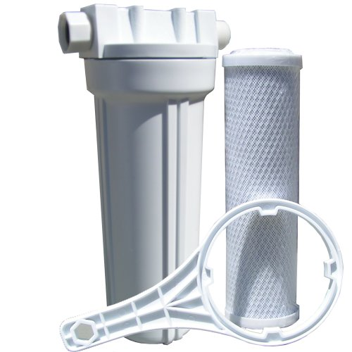 Watts 520021 RV/Boat Single Exterior Water Filter with Garden Hose Fittings by Watts Water Technologies