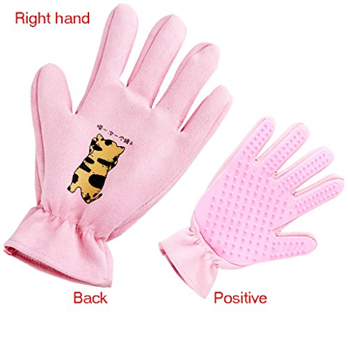 Pet Grooming Glove Personality Cute Bath Brush Massage Hair Removal Brush Five-Finger Enhancement Dog And Cat Floating Brush,#1,Righthand