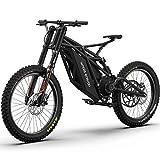 WJSW Elektrisches Mountainbike-Fahrrad für Erwachsene, mit 48V 20Ah-21700 Lithium-Batterie Elektro-Dirt-Bike, All-Terrain-MBT-Bike