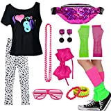 Kids 1980s Accessories I Love The 80's T-Shirt Outfit with Fanny Pack (7-8, 03)