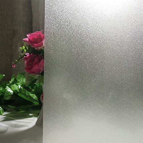Película de ventana de privacidad De vinilo puro autoadhesiva esmerilado de calor de película cristal de la ventana cubierta de aislamiento etiquetas en las ventanas privacidad decoración del hogar An
