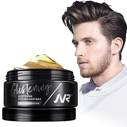 JVR Men's Hair Wax Premium Styling Hair Wax for Men with High Shine Finish Medium Hold 2.82oz (pack of 2)