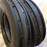 TWO 550X16, 5.50-16, 5.50X16 ROAD CREW ST1 6 PLY 3 Rib Tractor Tires w/Tubes