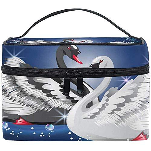 Sac cosmétique de Voyage Swan Goose Bubble Makeup Bag Pouch Tote Case Organizer Storage pour Femmes Filles