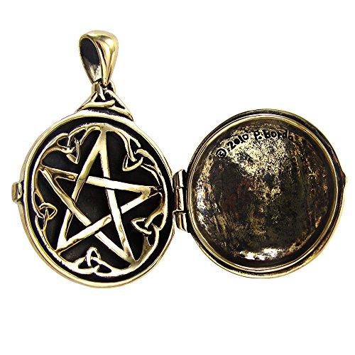 Bronze Celtic Swirl with Hidden Pentacle Pentagram Locket