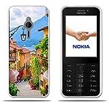 FUBAODA für Nokia 230 Hülle, Transparente TPU Mode Minimalist Ultra Thin Lightest Slim Fit Anti Schock Design Paar Geschenk Schutz für Nokia 230