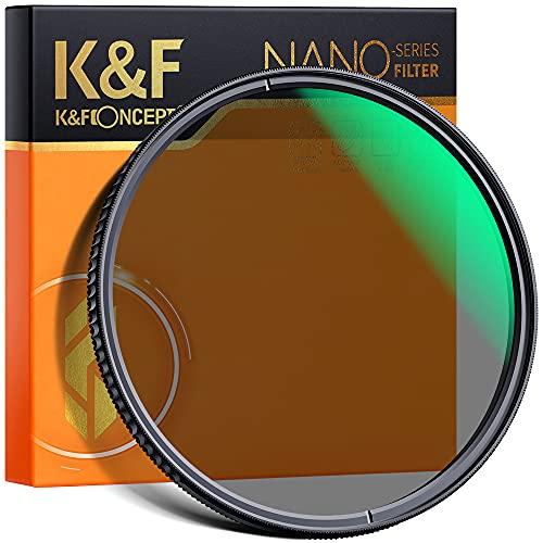 K&F Concept 77mm Filtro Polarizador CPL Circular Slim Vidrio Alemán Schott con 18 Capas Recubrimiento Multirresistente para Objetivo Circular 77mm