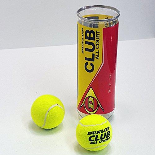 Land-Haus-Shop Dunlop Tennisball Set 3 Tennisbälle und Dose, Spaß Sport Tennis Spiel Wurf Ball