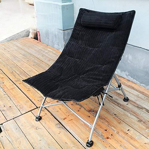 KRXLL - Sillas largas plegables para oficina, ocio, desayuno, cena, cama, respaldo, tumbona, jardín, exterior, terraza, playa, sillones reclinables, lavables