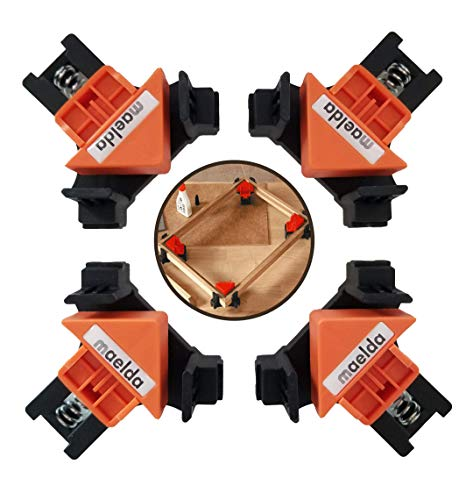 90 Degree Right Angle Clamps 4 PCS, Adjustable Corner Clamps, Frame Clamps, Cabinet Clamps, Crafts, Drawers, Clamps Set, Clamps for Gluing, Wood Project Box, Wood Clamps for Woodworking, Carpinteria